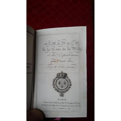 Almanach Court 1830 Time Charles X Royal