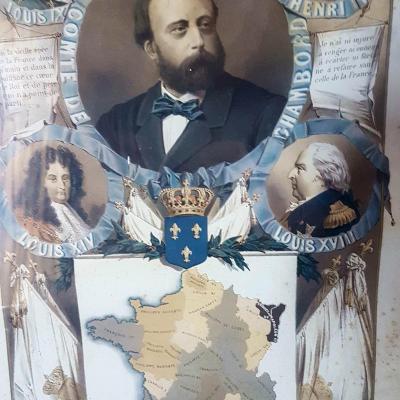 COMTE DE CHAMBORD HENRI V GRAVURE ROYALISTE LEGITIMISTE