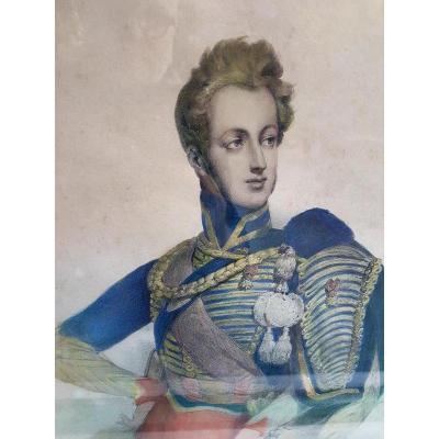 DUC DE CHARTRES ORLEANS ORLEANISME LOUIS PHILIPPE HUSSARD