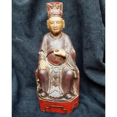 Wood Statue Sculpt China Nineteenth