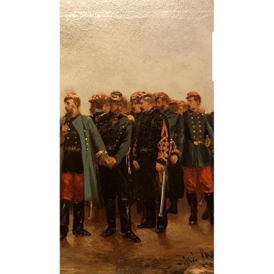 """ALEXANDRE PROTAIS SCÈNE MILITAIRE NAPOLÉON III """"LA SÉPARATION"""" 1870 METZ"""