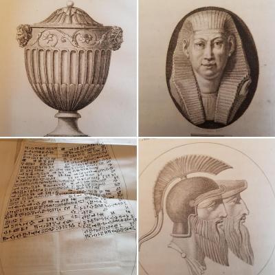 MILLIN MONUMENS ANTIQUES INEDITS 1802 ET 1806 NÉOCLASSIQUE