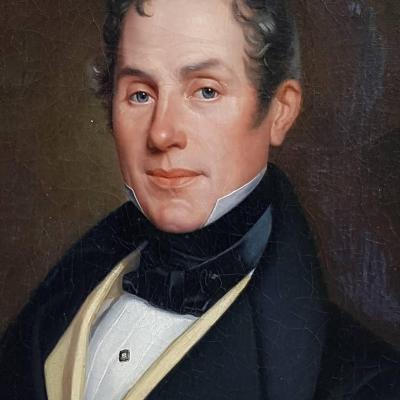 PORTRAIT HOMME HUILE SUR TOILE VERS 1830 ROMANTIQUE ÉPOQUE