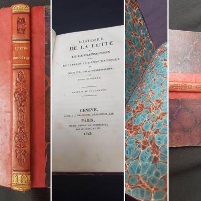 Suisse Zschokke - Histoire De La Lutte Et De La Destruction 1823