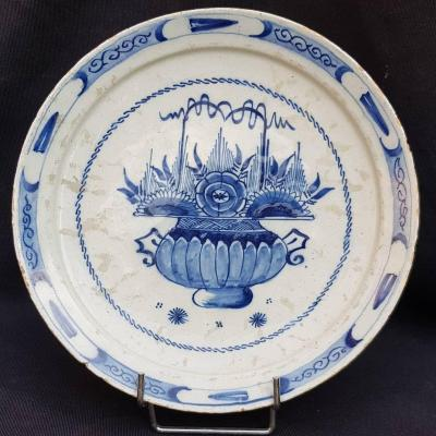 Delft Blue And White 18th Century Plate