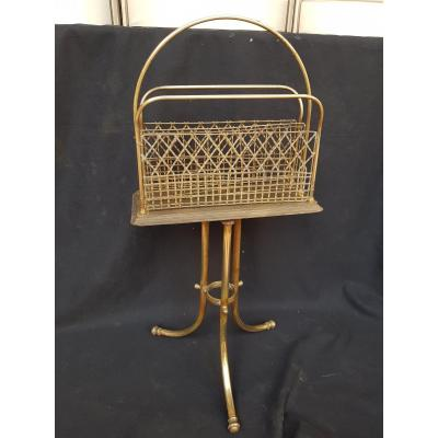 Magazine Holder Art New Decor Magazine 1900 1930 Brass