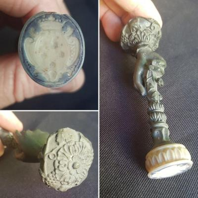 Seal Seal In Biscuit Early Early XIX Coat Of Arms