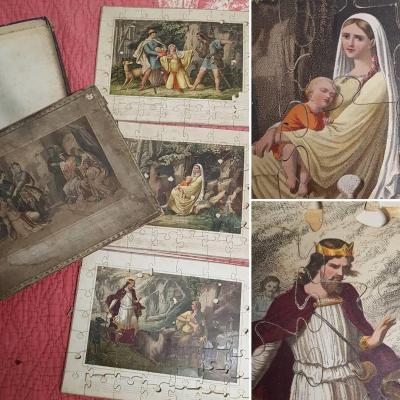 PUZZLE VERS 1850 JEUX ANCIENS JOUETS WENTZEL ALSACE