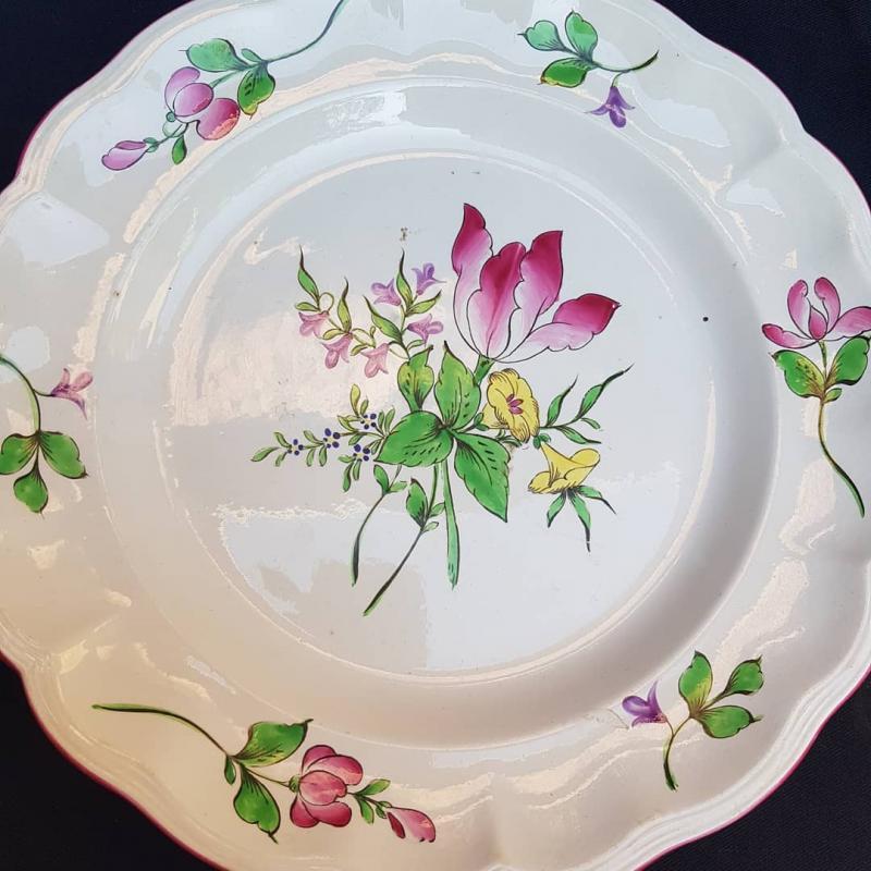 LunÉville Earthenware Service Light Plates Shaped Pieces Plattery-photo-4