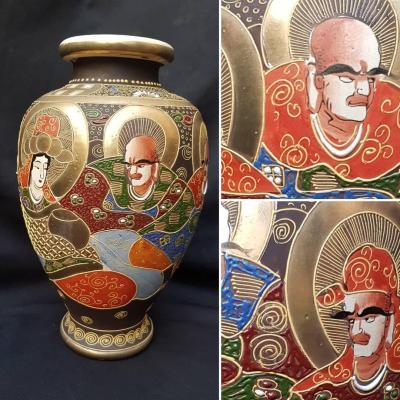 Satsuma Japan Vase Circa 1900 H. 34 Cm