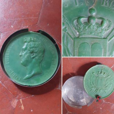 Seal Louis-philippe Cire Orleans Orleanism Monarchy Of July