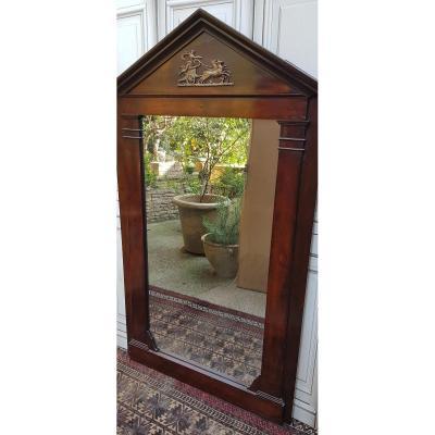 Large Mirror Empire Mahogany Trumeau