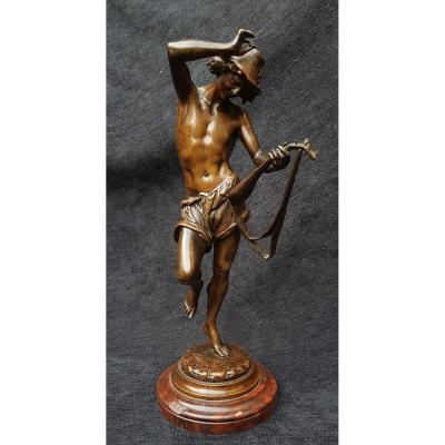 Carrier Belleuse The Mandolin Player XIXth Bronze Colin And Carrier-belleuse Company