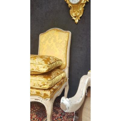 Pair Of Heating Chairs Louis XV Painted Wood