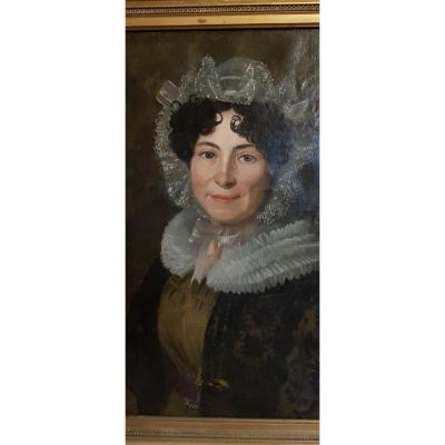 Portrait Of A Woman Charles X Dated 1826 And Signed