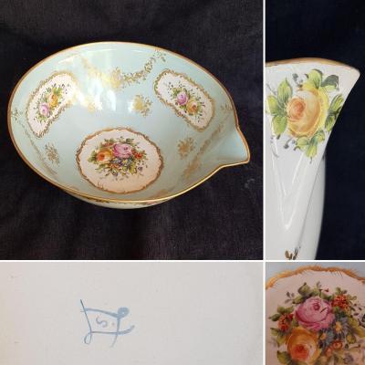 Large Porcelain Jatte From Paris Faux SÈvres Period Late XIXth
