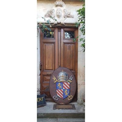 Large Papal Coat Of Arms Pie IX PapautÉ
