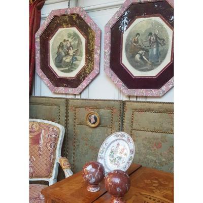Pair Of Engravings Engravings Cuve Paper Frames