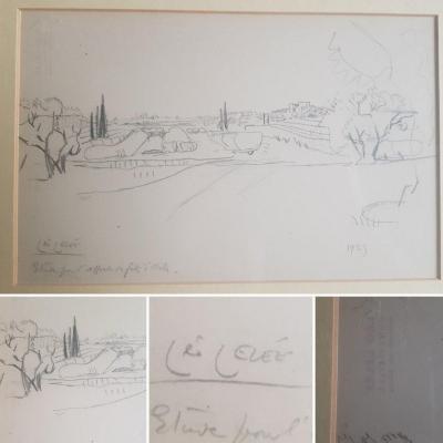 Léo LelÉe - Preparatory Drawing Arles Provence Montmajour