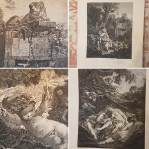DEUX GRAVURES DE FRANÇOIS  BOUCHER PAR GAILLARD - PAIRE DE BEAUX TIRAGES XIXe