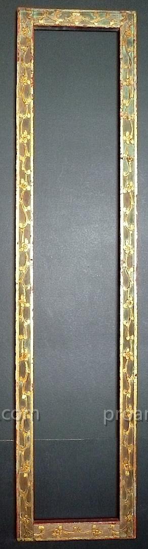 cadre Chine bois sculpté doré carving wood XIX 138  x 27 cm  frame Ref C526