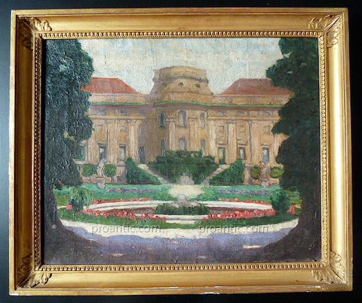 Krauss Signé XIX XX Viennes Autriche Palais Schwarzenberg Monument Historique