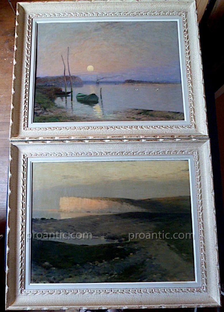 De Clermont Impressionniste Paysages Marins XIX