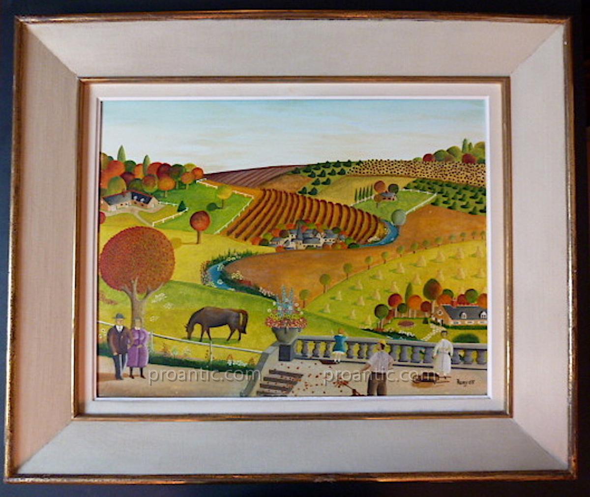 Remy Naive Style Genre Scene Bucolic Countryside Landscape XX