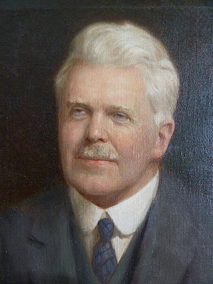 Portrait Notable Anglais  Signé Denholm Davis XIX XX