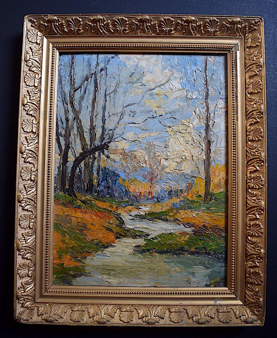 Paysage Impressionniste  Fauve  Forêt  Rivière XX
