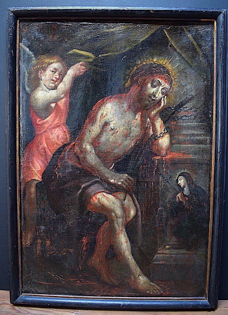 Religious Scene The Passion Of Christ Jesus Virgin Religion XVI 16th XVII 17th