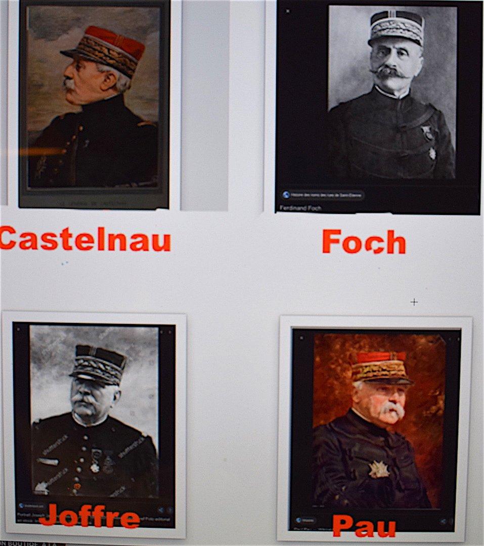 Cruche Peinte De Quatre Portraits De Généraux  Guerre 1914 1918 Militaire Militaria Signé -photo-8