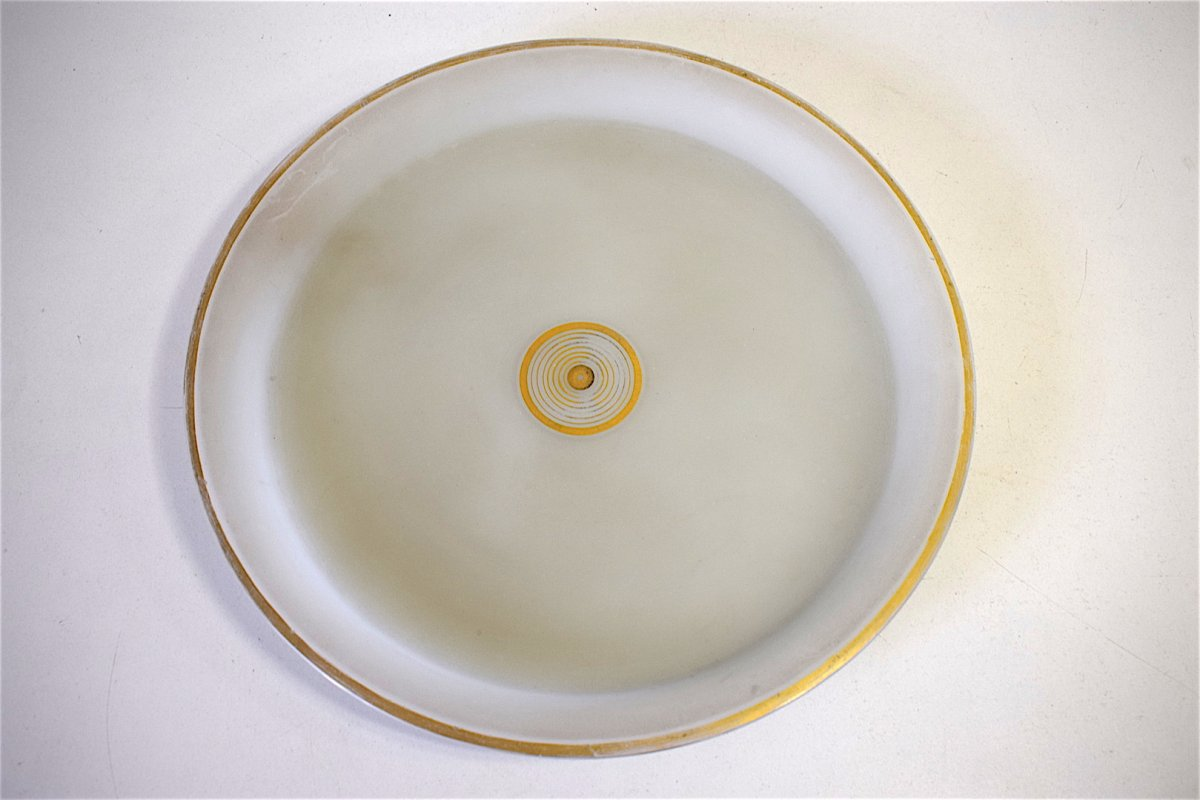 Carafe Service de Nuit dit verre d'eau cristal d' Opaline Décor Turc Oriental  Orientaliste XIX REF123-photo-1