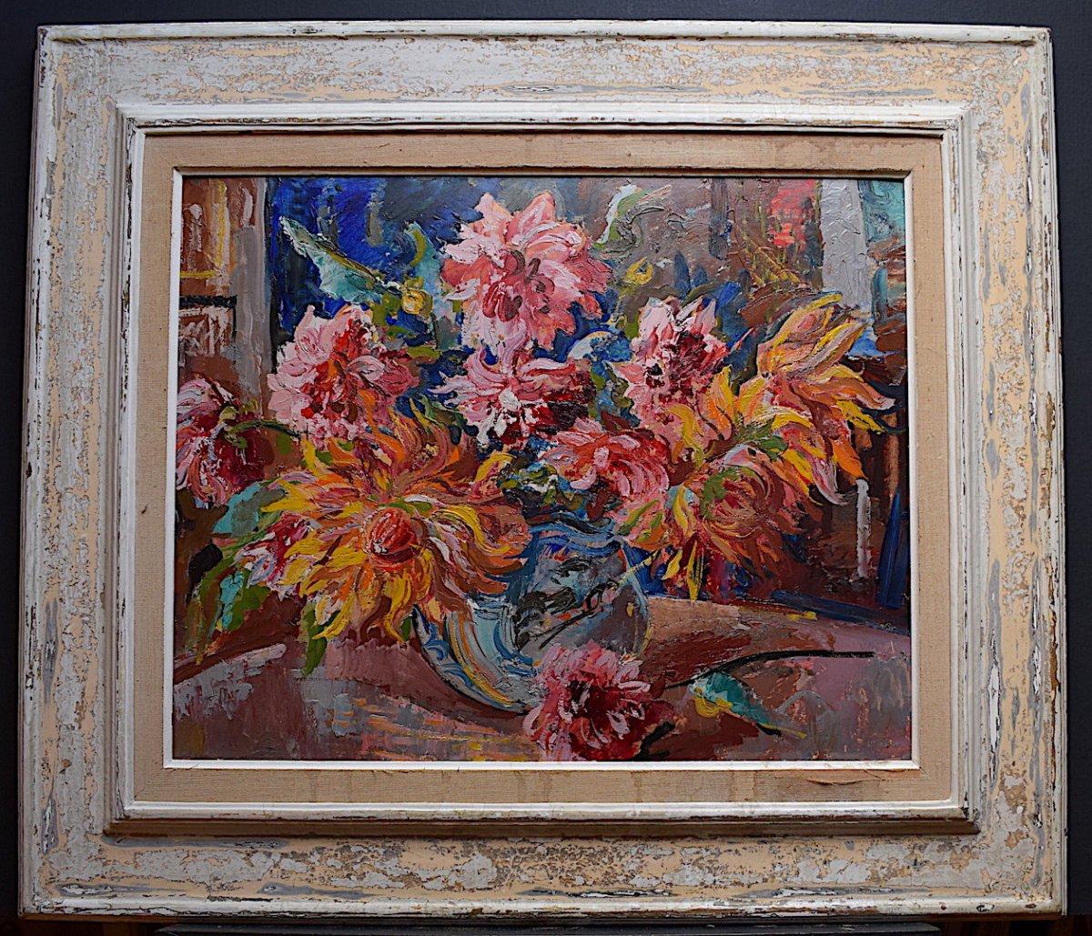 Wilhelm Kaufmann Nature Morte aux Pivoines Bouquet de Fleurs  XX RT134
