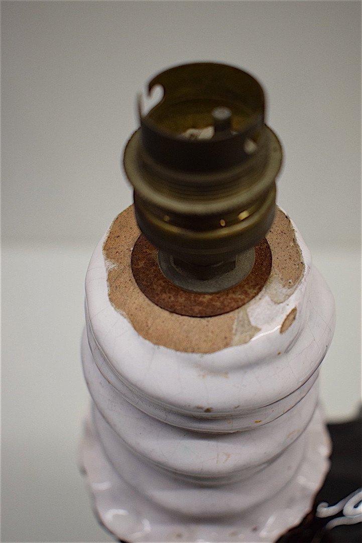 Jean Austruy  Lampe De Table Chandelier Céramique Art Déco Signée Vers 1950  XX REF132-photo-3