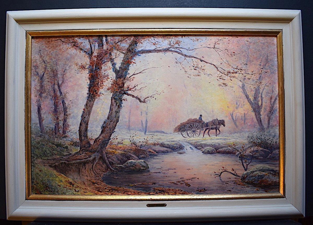 Henri Bésiné Landscape Provence Country Scene Le Gué Le Lez Montpellier Impressionist XX
