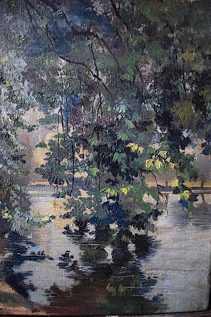 Impressionist Landscape River XIX Rt228-photo-1