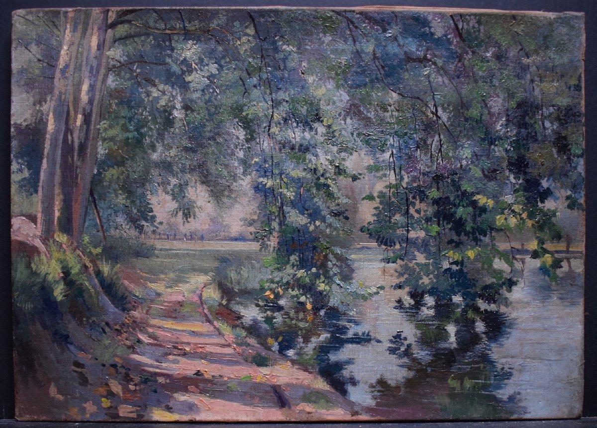 Impressionist Landscape River XIX Rt228-photo-4
