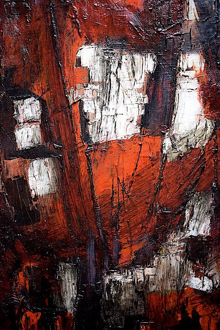 Abstract Expressionist Modernist 1950s 1957 Unsigned XX Rt241-photo-1