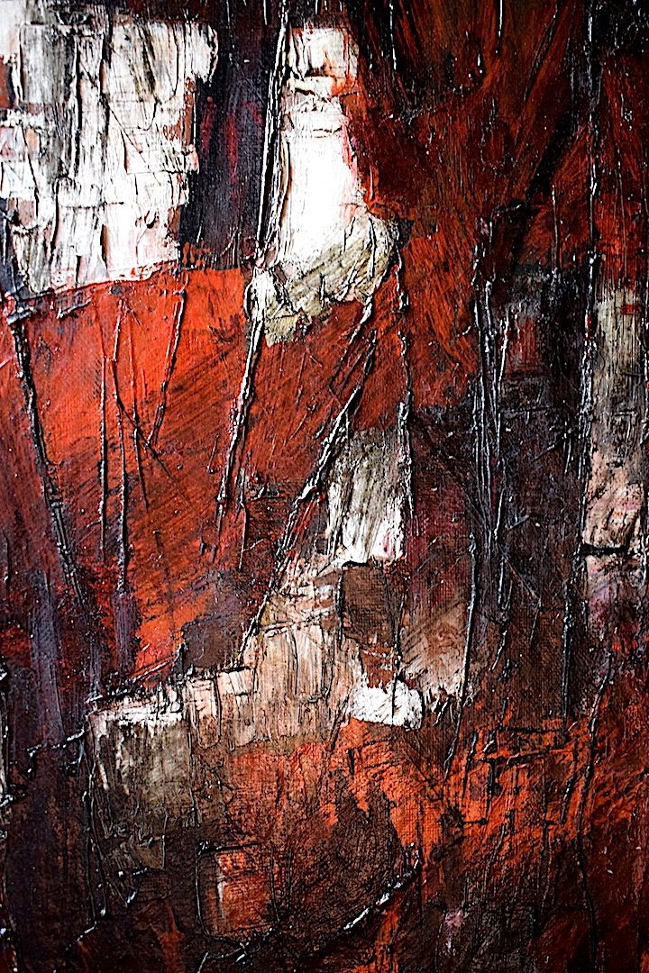 Abstract Expressionist Modernist 1950s 1957 Unsigned XX Rt241-photo-2