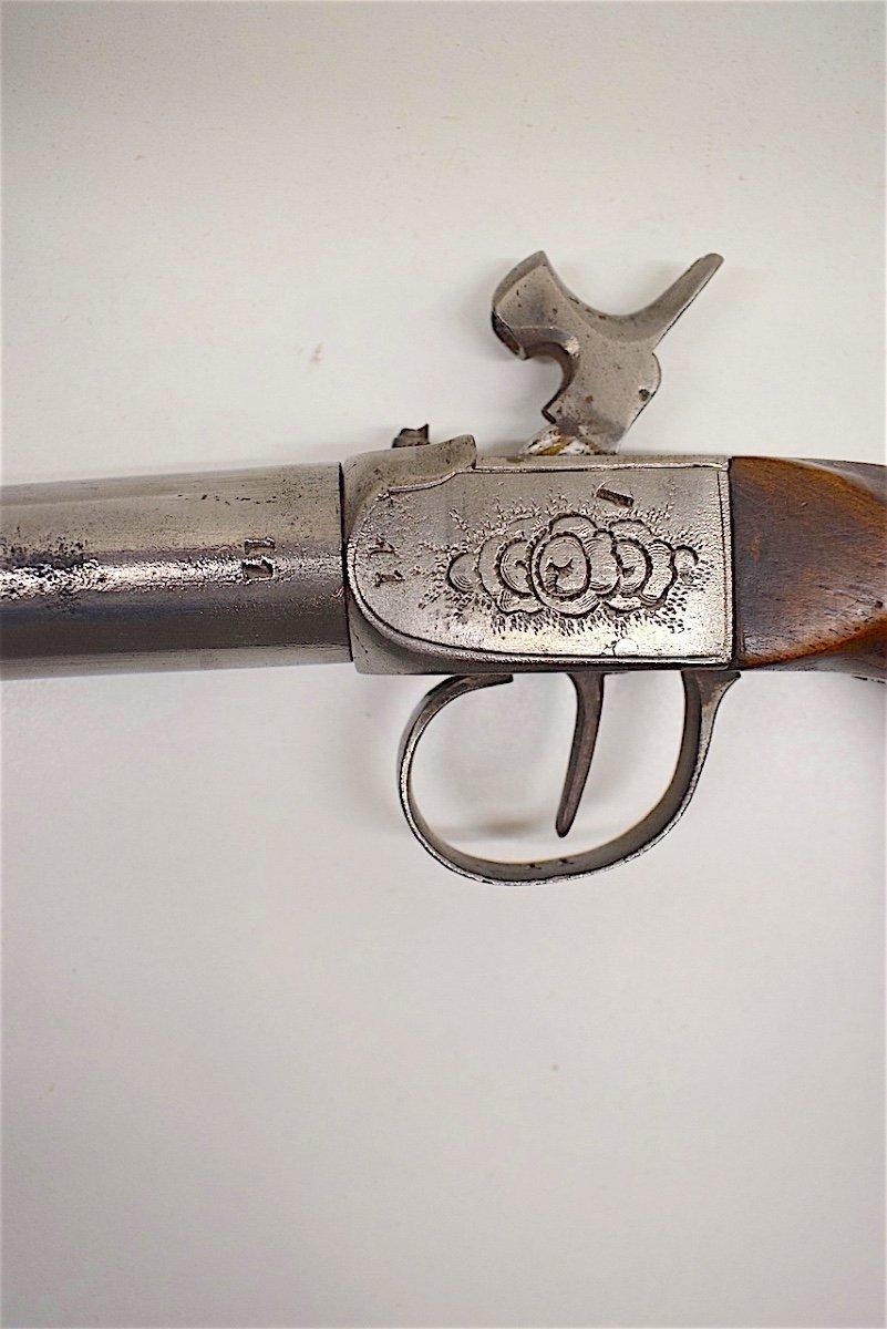 Pistolet à Coffre Canon à Vis Calibre 11 Mm Monogramme XIX ème-photo-7