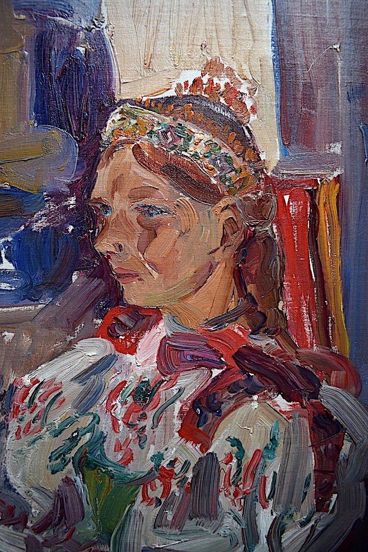 Vladimir Stepanek Czech Fawn Style Signed Sitting Woman XX Rt318-photo-4