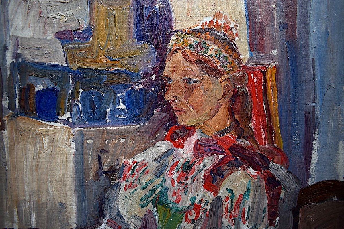 Vladimir Stepanek Czech Fawn Style Signed Sitting Woman XX Rt318-photo-1