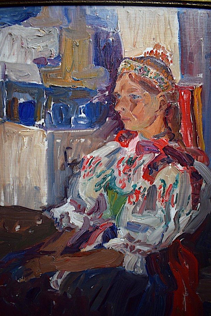 Vladimir Stepanek Czech Fawn Style Signed Sitting Woman XX Rt318-photo-2