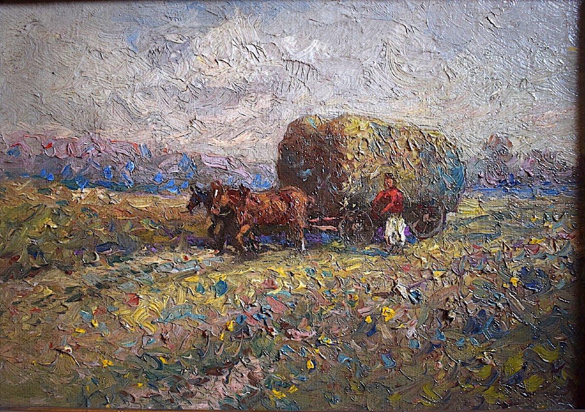 Impressionniste Paysage Scène Champêtre XIX XX RT398-photo-3