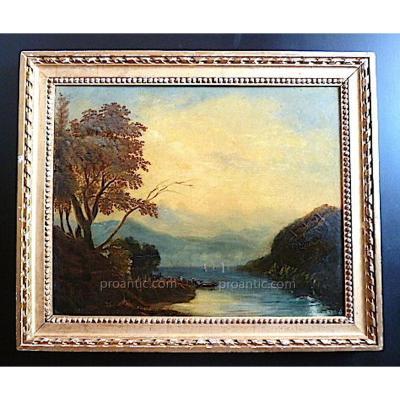 Marine Bateaux  Paysage Orientaliste à Restaurer  XVIII XIX 18th 19th