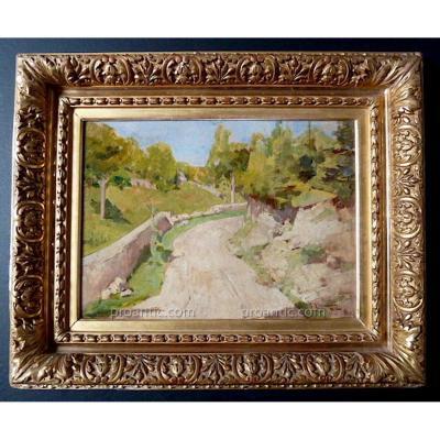 G Jeannin Paysage Impressionnisme XIX XX