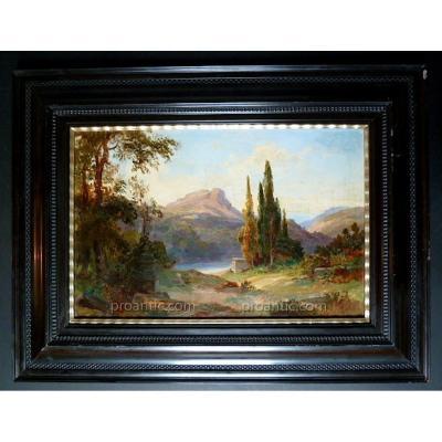 Paysage Provençal Provence Impressionnisme Romantique XX Signé à Identifier.