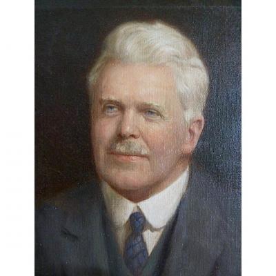 Portrait Notable English Signed Denholm Davis XIX XX