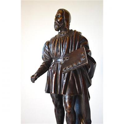 Bronze peintre sculpteur Michel Ange renaissance italienne Personnage XIX 19th